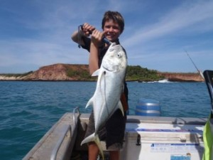Mixed bag fishing charter for father and sons team