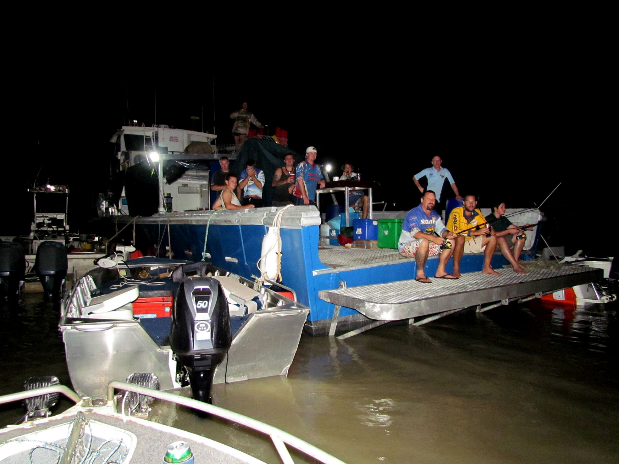 Tag Along Charters with Humbug Fishing Mother Ship Brute Force Darwin